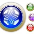 Royalty-Free Stock Vector Image: Universal Icon Button Set of Four