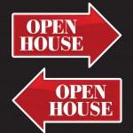 Open House Real Estate Arrow Signs. — Stock Vector #2369391