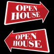 Open House Real Estate Arrow Signs — Stock vektor