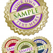 Set of Four Colorful Emblem Seals - Stock Vector