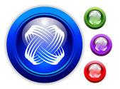 Universal Dynamic Icon Button Set — Stock Vector
