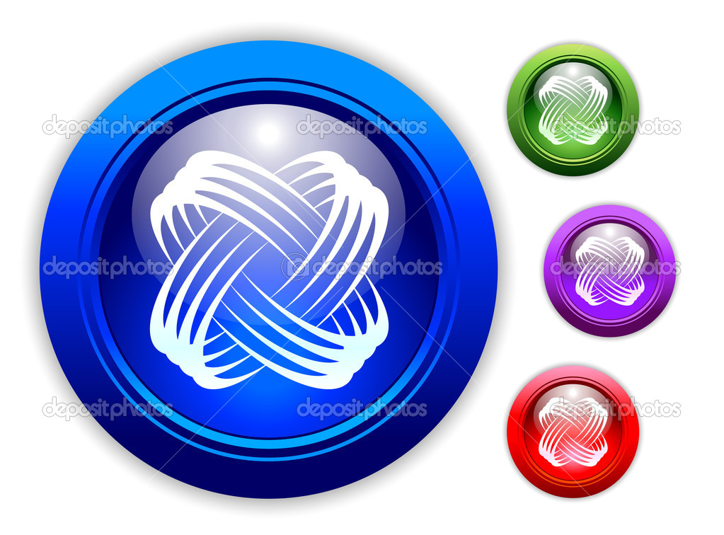 Universal Dynamic Icon Button Set of Four Different Colors. — Stock Vector #2369318