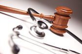 Gavel and Stethoscope Abstract — Stock Photo
