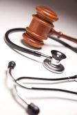 Gavel and Stethoscope — Stock Photo