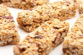 Several Granola Bars Isolated on White — Stock Photo