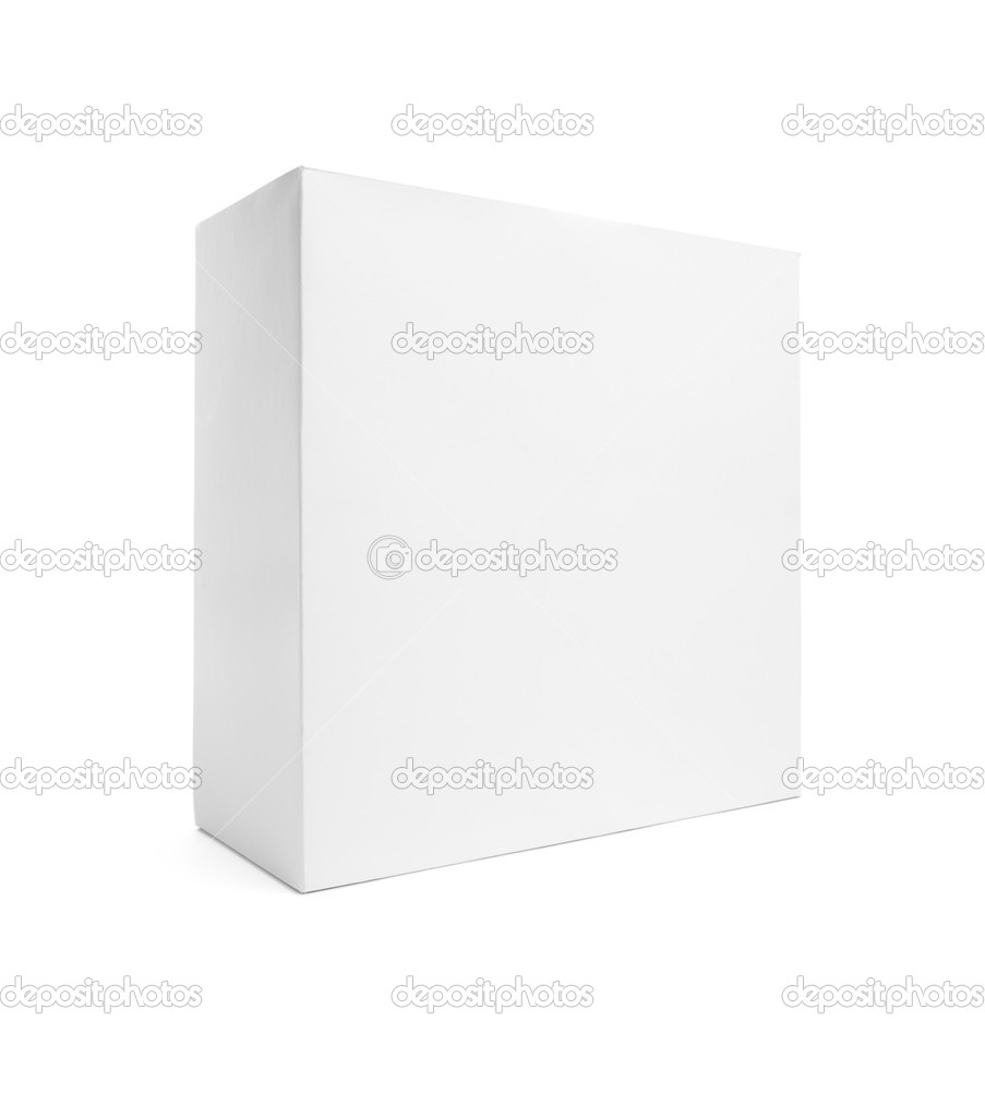 Blank White Box Isolated on a White Background Ready for Your Own Graphics.  Stock Photo #2563177