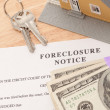 Foreclosure Notice, Home, Keys, Notice — Stock Photo #2603078