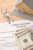 Foreclosure Notice, Home, Keys, Notice — Stock Photo
