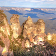 Three sisters in Blue Mountains - Stock Photo