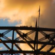 Harbour Bridge Climb with — Stock Photo