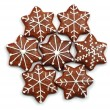 Christmas decorated sweets-ginger bread — Stock Photo