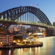 Sydney harbour bridge v sunrise — Stock fotografie