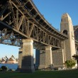 Sydney Harbour Bridge with Opera House - Stock Photo