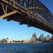 Stock Photo: Sydney Harbour Bridge with Opera House