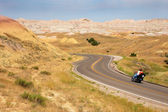 Road in Badlands National Park — Stock Photo