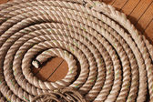Curled rope detail — Stock Photo