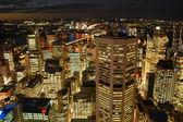 Night Sydney Skyline with Harbour Bridge — Stock Photo