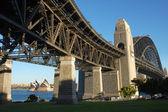 Sydney Harbour Bridge with Opera House — Stock Photo