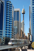 Sydney mono rail downtown — Stockfoto