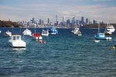 Sydney skyline van watson bay — Stockfoto