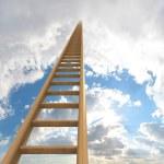 escada para as nuvens — Foto Stock