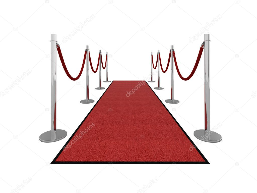 Red carpet vip illustration isolated on white. Please see my portfolio for different views.  Stock Photo #2335600
