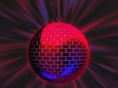 Disco mirror ball illustration — Stock Photo
