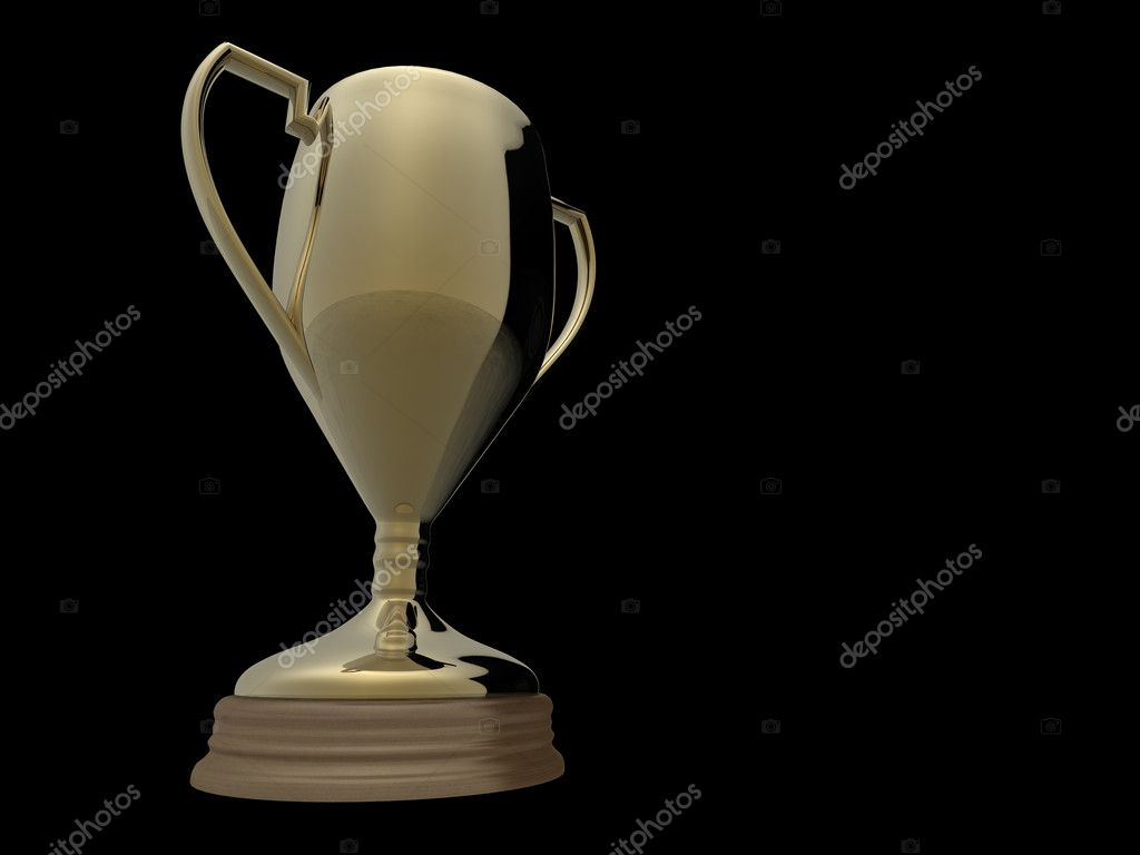 gold trophy on black background � stock photo 169 aspect3d