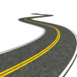 Long winding road illustration — Stock Photo