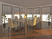 Dining area - early evening — Stock Photo