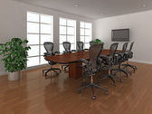 明亮会议室内 — 图库照片