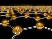 Abstract network illustration — Stock Photo