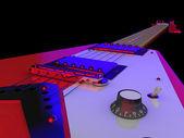 Electric guitar close-up — Stock Photo