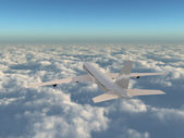 Flying above the clouds — Stock Photo