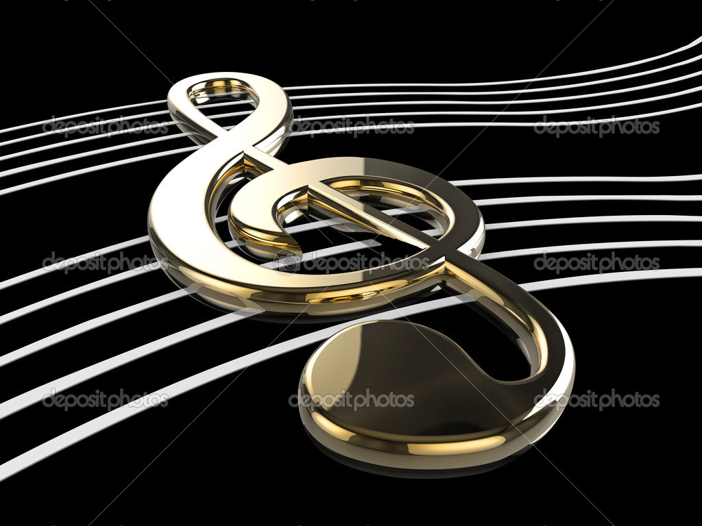 High quality illustration of a musical G Clef or Treble Clef symbol  Zdjcie stockowe #2429294