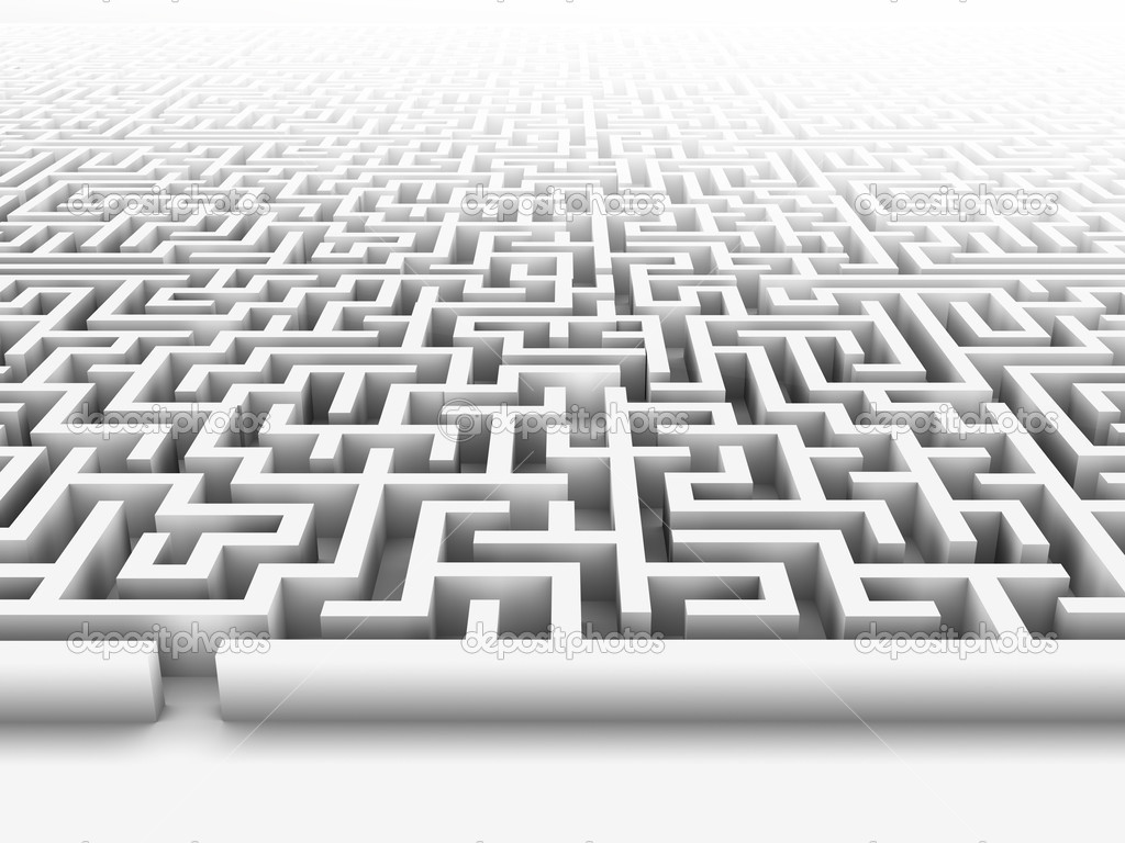 High quality illustration of a large maze or labyrinth. Please see my portfolio for more in the series.  Stock Photo #2489984
