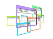 3d internet browservensters — Stockfoto