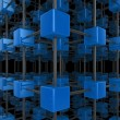 Cube network - Stockfoto