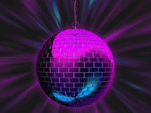 Disco mirror ball illustration — Stock fotografie