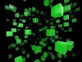 Cube network — Stock Photo