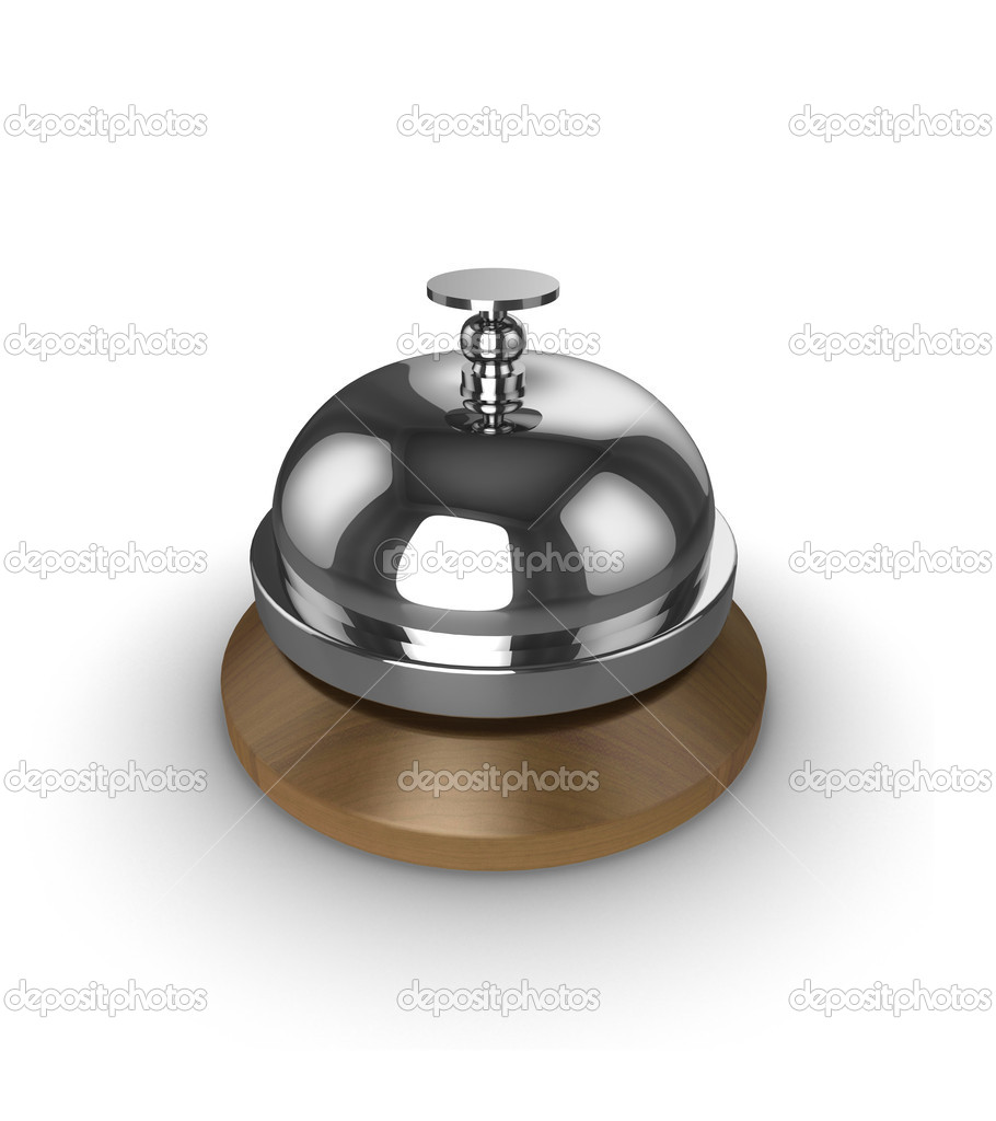 Reception desk bell, isolated on a white background. — Stock Photo #2694481