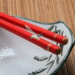 Royalty-Free Stock Photo: Chopstick on a bowl