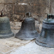 Three old bronze bells — Stock Photo