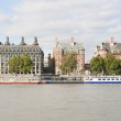 Ancient houses across the river Thames in London — Stock Photo #2339029