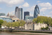 A view of the London skyline — Stock Photo