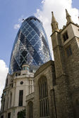 The gherkin skyscraper in London — Stock Photo