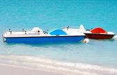Beach pedal tekneler — Stok fotoğraf