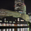 Canary Wharf skyscrapers in London at night — Stock Photo #2343012