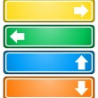 Arrow signs pointing to different directions — Stock Photo