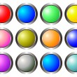 Set of colorful 3d buttons isolated on white — Stock Photo